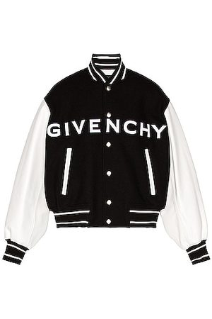 Givenchy Wool & Leather Varsity Jacket in
