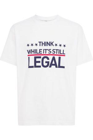 Vetements Men T-shirts - Human Rights Cotton T-shirt