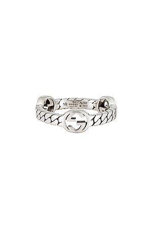 Gucci Men Rings - Interlocking G 5.5mm Ring in Metallic