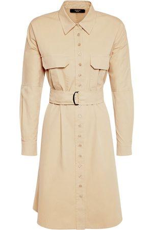 Max Mara Women Casual Dresses - Cotton Twill Belted Shirt Mini Dress