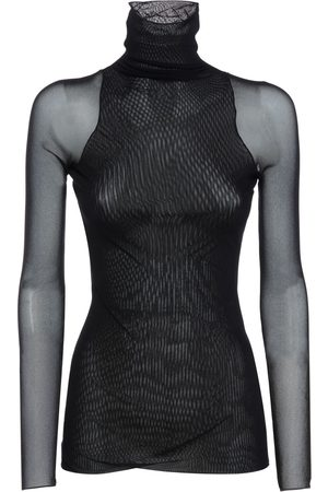 Max Mara Women High Necks - Double Stretch Tulle Turtleneck Top