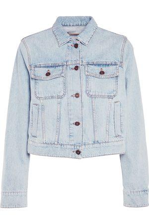 Max Mara Women Denim Jackets - Cotton Denim Jacket W/ Front Pockets