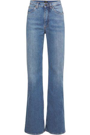Etro High Waist Flared Cotton Jeans