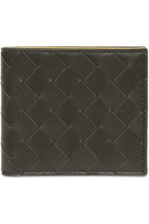 Bottega Veneta Men Wallets - Intreccio Two Tone Leather Wallet
