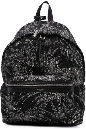 Saint Laurent Palm tree print City backpack