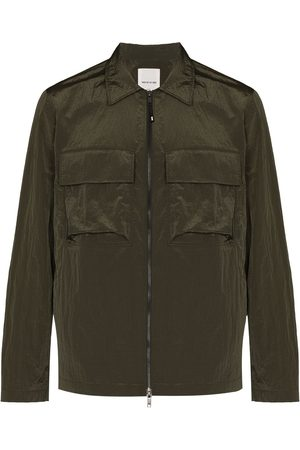 WoodWood Men Jackets - Egon zip-front shirt jacket