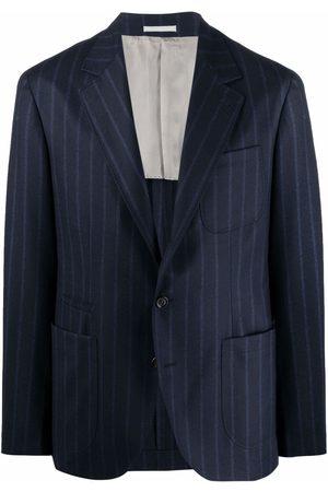 Brunello Cucinelli Men Blazers - Pinstripe tailored blazer