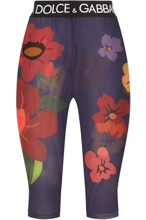Dolce & Gabbana Women Shorts - Floral sheer shorts