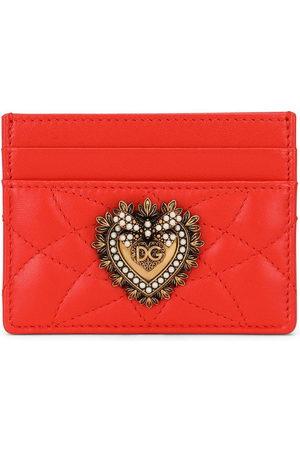 Dolce & Gabbana Logo-plaque quilted cardholder