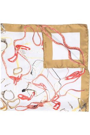 Maison Margiela Chain-link print silk scarf