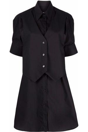 MM6 MAISON MARGIELA Waistcoat poplin shirtdress