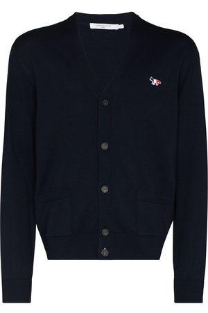 Maison Kitsuné Men Cardigans - Button-up wool cardigan