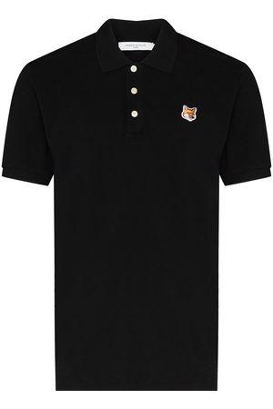 Maison Kitsuné Men Polo Shirts - Fox-patch polo shirt