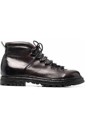 Officine creative Arctic leather lace-up boots - Grey