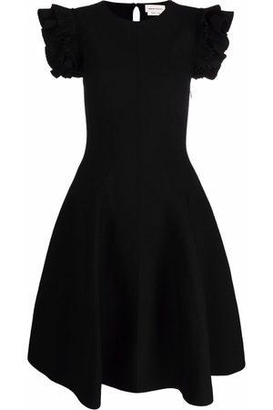 Alexander McQueen Women Party Dresses - Ruffled sleeve mini dress