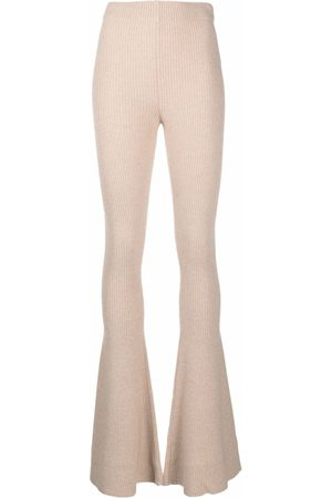 Alanui Women Leggings - Flared knitted trousers - Neutrals