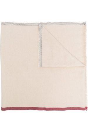 Brunello Cucinelli Contrast-edge frayed scarf - Neutrals