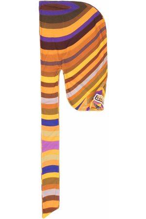 Formy Studio Striped logo-patch draped hat