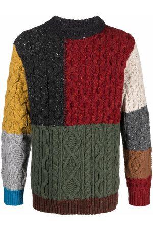 Alanui Multi-panel cable-knit jumper