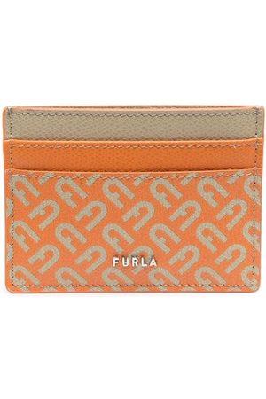 Furla Men Wallets - Monogram-print leather cardholder