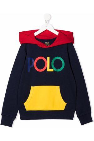 Ralph Lauren Logo-printed colour-block hoodie