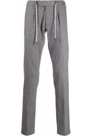ELEVENTY Men Formal Pants - Drawstring tailored trousers - Grey