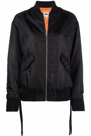 MM6 MAISON MARGIELA Women Bomber Jackets - Tie-waist bomber jacket
