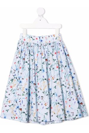 Molo Kids Floral-print flared skirt