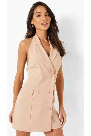 Boohoo Womens Halterneck Blazer Dress - - 4