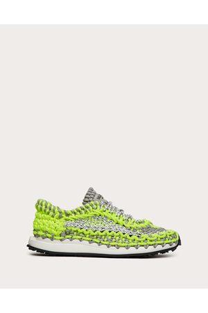VALENTINO GARAVANI Valentino Garavani Crochet Sneaker In Fabric Man /lime Polyester 100% 40