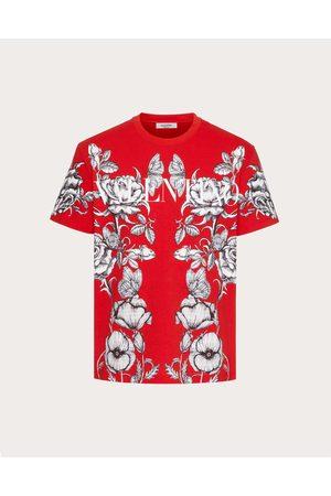 VALENTINO Cotton T-shirt With Dark Blooming Print Man / Cotton 100% L