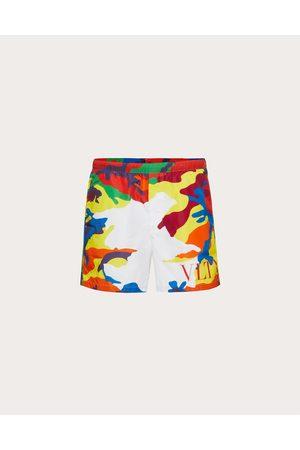 VALENTINO Swim Shorts With Camou7 Print Man / 100% Poliammide 46