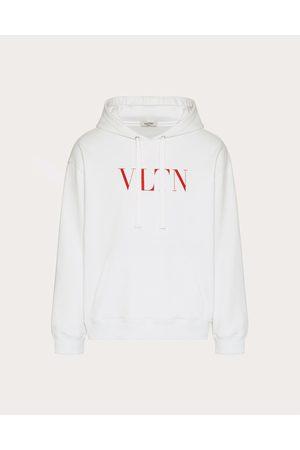 VALENTINO Men Sweatshirts - Hooded Sweatshirt With Vltn Print Man / Cotton 94% L