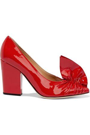 Sergio Rossi Woman Sr Ruffle 90 Patent-leather Pumps Size 35