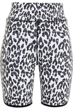 The Upside Woman Leopard-jacquard Shorts Size S