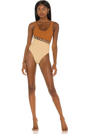 lovewave The Everette One Piece in Tan,Nude.