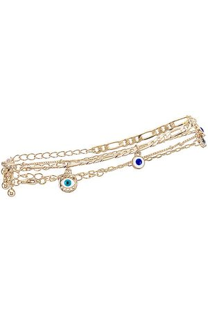 8 Other Reasons Evil Eye Anklet in Metallic .