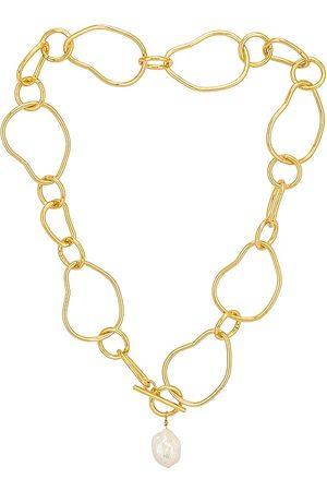 Cloverpost Foster Necklace in Metallic .