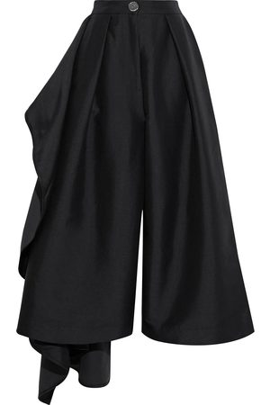 Solace Woman Margo Ruffled Satin-twill Culottes Size 6