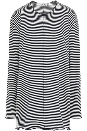 The Upside Woman Licia Striped Cotton Sweater Navy Size S/M