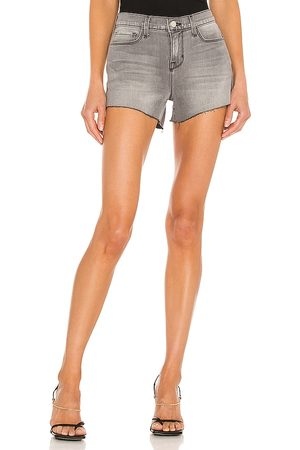 L'Agence Audrey Mid Rise Short in Grey.
