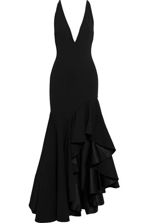 Solace Woman Edana Asymmetric Ruffled Crepe Maxi Dress Size 8