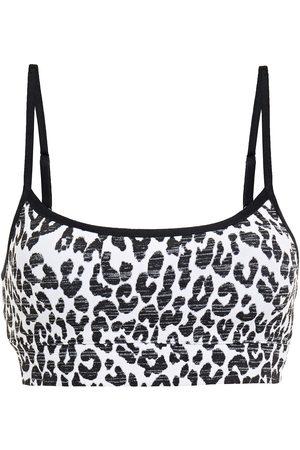 The Upside Woman Leopard-jacquard Sports Bra Size L