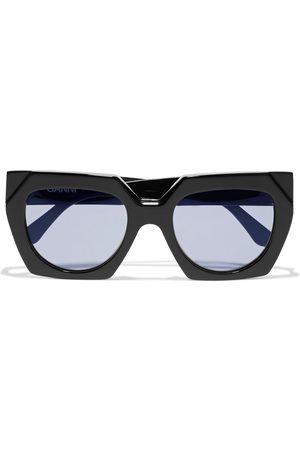 Ganni Woman Oversized Square-frame Acetate Sunglasses Size
