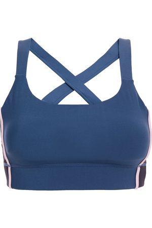 The Upside Woman Puerto Paola Color-block Stretch Sports Bra Slate Size S