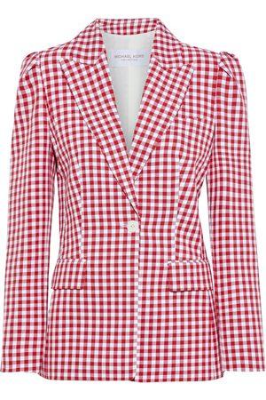 Michael Kors Woman Gingham Cotton Blazer Size 4