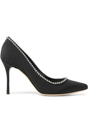 Sergio Rossi Woman Crystal-embellished Faille Pumps Size 36