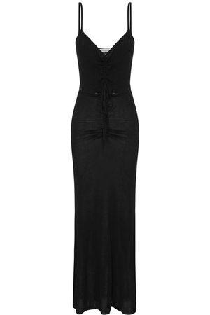 CHRISTOPHER ESBER Ruched Disconnect Cami Knit Dress Black