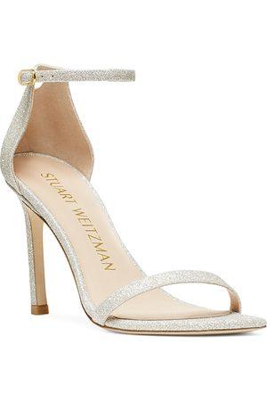 Stuart Weitzman Women's Amelina Square Toe High Heel Sandals