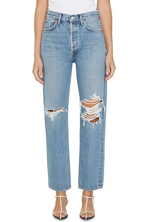 AGOLDE 90's Distressed High Rise Jeans In Backdrop